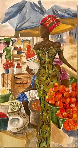 'Mokola market' fine art print