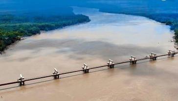 Chegam as últimas vigas para a Ponte Central-Bequimão