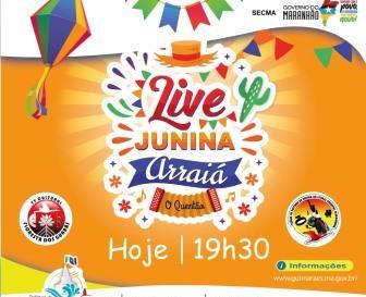 """Prefeitura promove """"Live junina Arraiá O Quentão"""", hoje, às 19h30"""