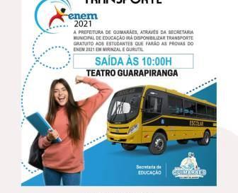 Ônibus com estudantes do ENEM saem amanhã às 10 horas
