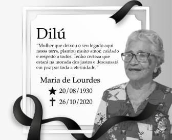 Morre dona Dilu aos 90 anos