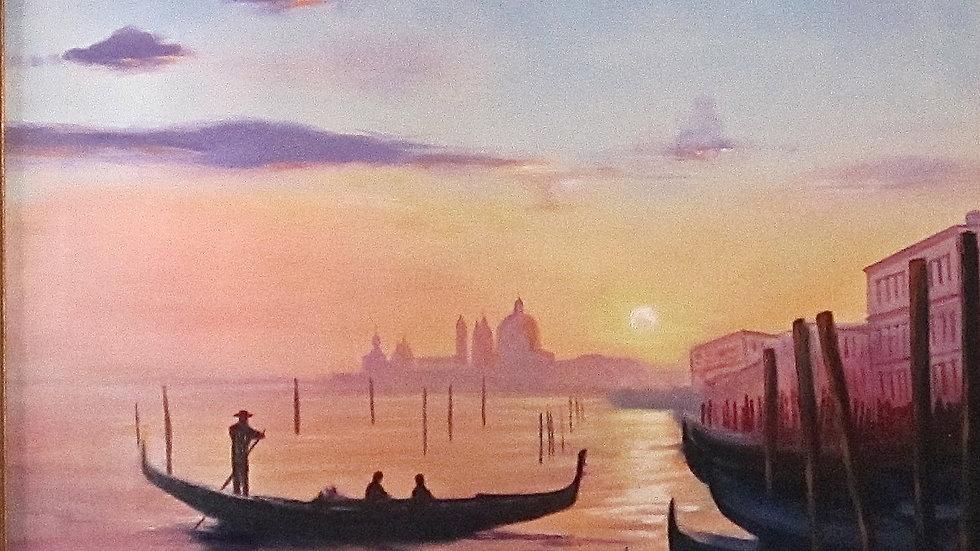 Grand Canal at Sunrise by Jill Lawson