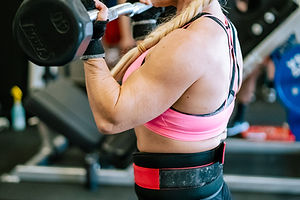 IFBB Pro Shannon Powell working out at X Factor Fitness