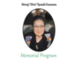 Auntie Shim Memorial Service Program
