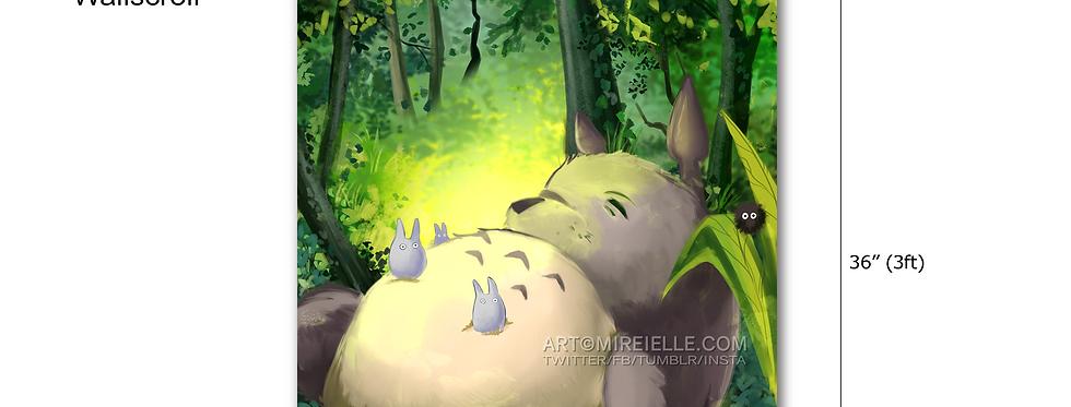 My Neighbor Totoro Ghibli Fan Art Wall Scroll