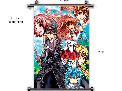 SAO Asuna Kirito  Anime Wall Scroll Poster wall decor gifts for him