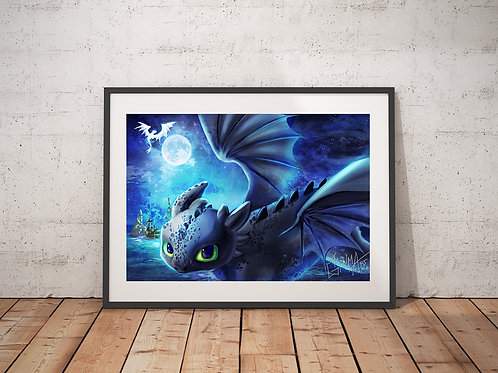 Toothless  HTTYD Poster