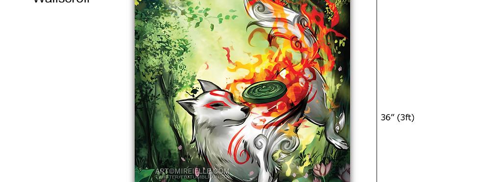 Wallscroll Okami Amaterasu Poster Print Fanart Wall Art Videogame