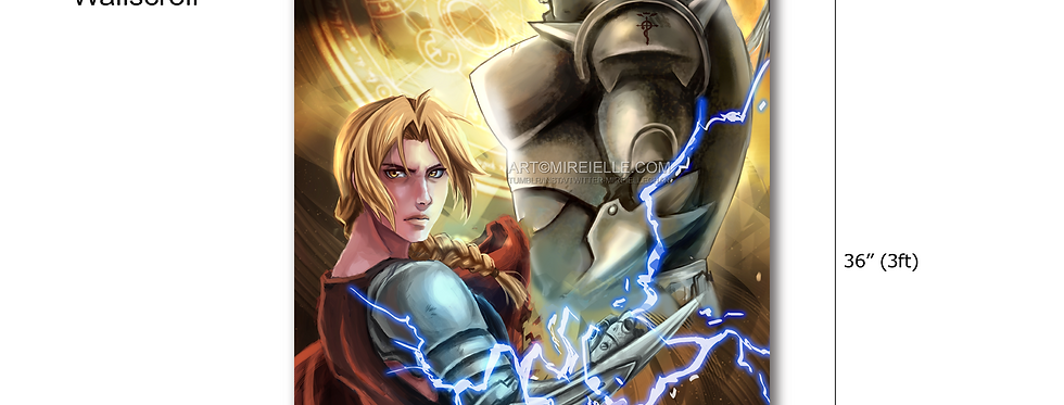 Full Metal Alchemist Wall Scroll