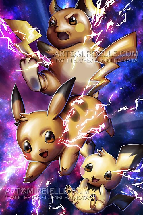 Pikachu Evolutions Poster