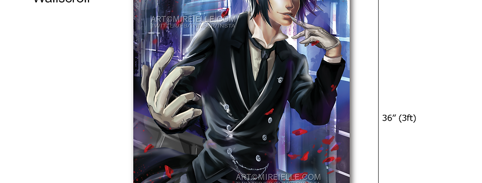Black Butler Sebastian Wall Scroll