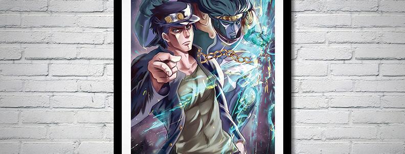 Gamer Gift wall scroll fanart poster anime
