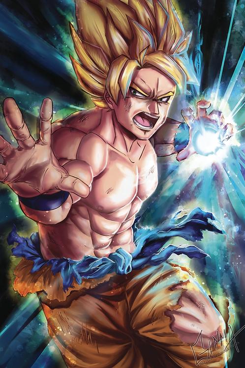DBZ Goku Print
