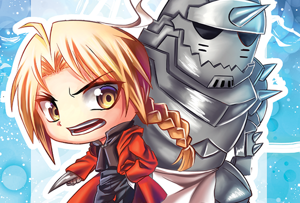 Elric Bros Mini Print
