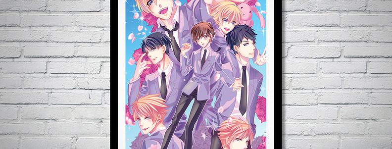 Ouran Highschool Host Club fanart poster anime