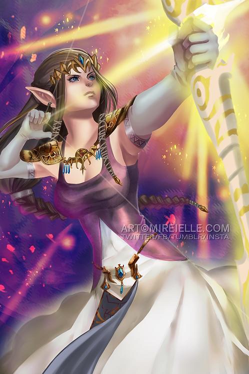 Zelda Princess Poster