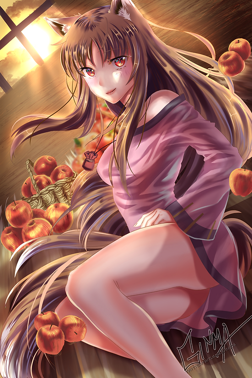 Spice and Wolf Holo Poster