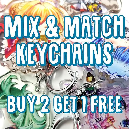 All Designs Acrylic Keychains