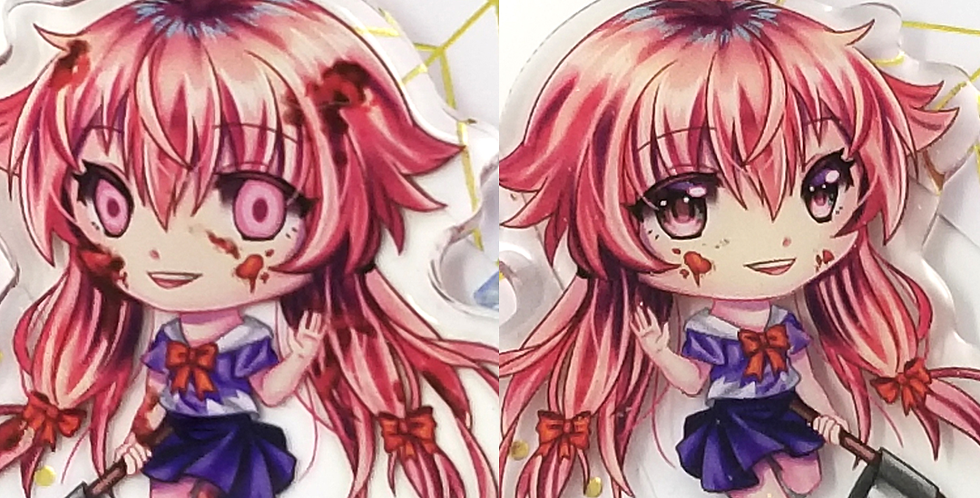 Yuno Gasai 2in Double-Sided Acrylic Charm Future Diary Anime