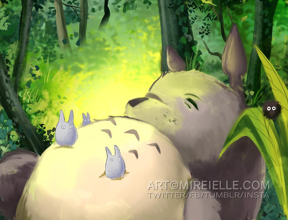My Neighbor Totoro Poster Print