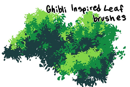 FREE Ghibli Leaves Brush