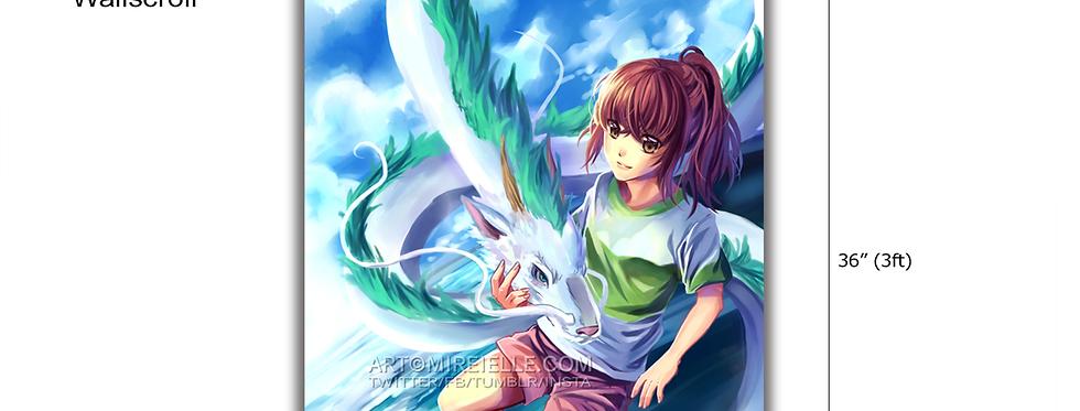 Spirited Away Ghibli Wallscroll