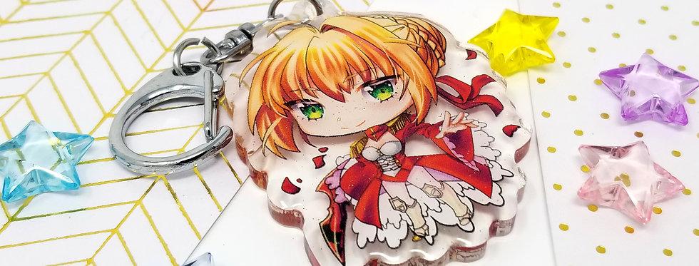 Fate grand order keychains FGO acrylic kawaii chibi charms