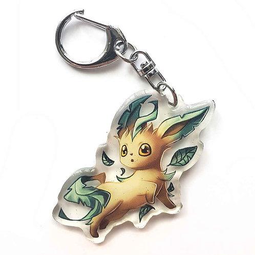 Shiney Leafon Keychain