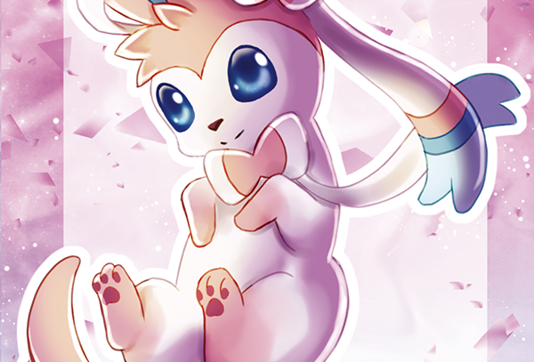 Sylveon Mini Print
