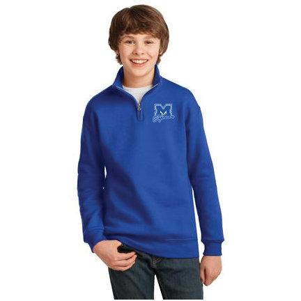 1/4 Zip Sweatshirt-Youth