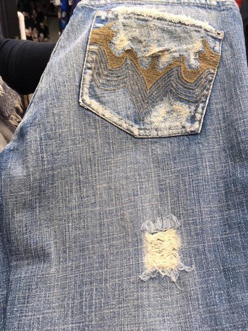 Rapsodia vintage died denim effect jeans