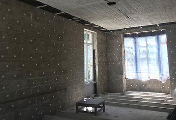 OTRA 1200 m2 d'isolation intérieur d'unchâteauen blocs de chanvre de 12 cm avec enduit au PCS, remplissage decoulisses de 2 à 8cm. Réalisation OTRA/AD-mix sprlwww.otra-construct.com