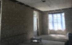 1200 m2 d'isolation intérieur d'unchâteauen blocs de chanvre de 12 cm avec enduit au PCS, remplissage decoulisses de 2 à 8cm. Réalisation OTRA/AD-mix sprlwww.otra-construct.com