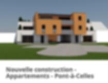 Réalisation d'un immeuble àappartements CLT et blocs de chanvre 30CM : OTRA/AD-mix sprl