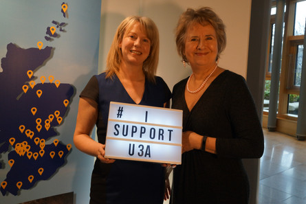 SHONA ROBISON MSP BACKS LEARNING LATER IN LIFE THROUGH U3A