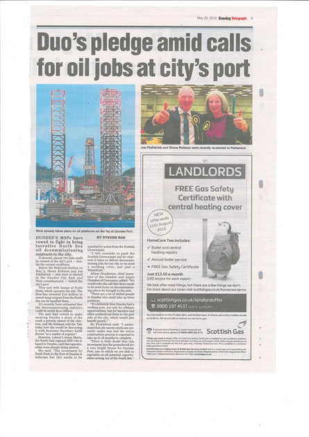 Continued support for Dundee Port