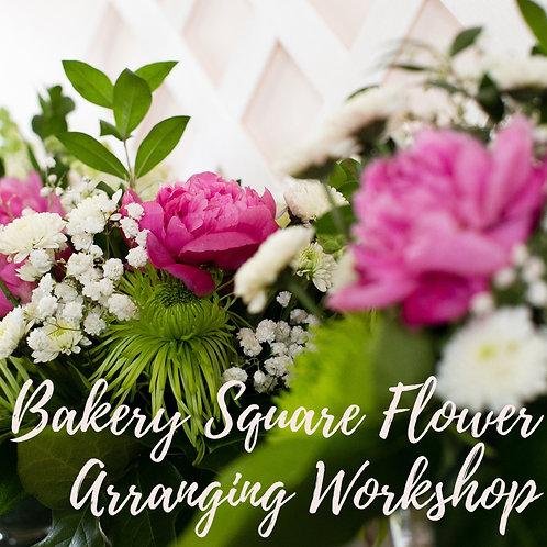 Bakery Square Flower Arranging Workshop