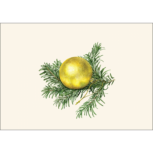 Gold Ornament Boxed Note Cards 8-pack