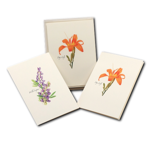 Lily/Lupin Boxed Note Cards (4 of Each Type)