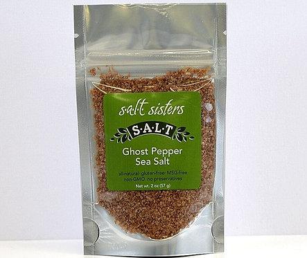 "Ghost Pepper ""Hot"" Sea Salt by Salt Sister 2oz."
