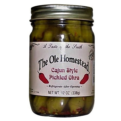 Cajun Pickled Okra