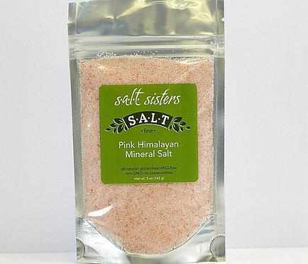 "Pink Himalayan Mineral Salt ""fine"" by Salt Sisters 5oz."