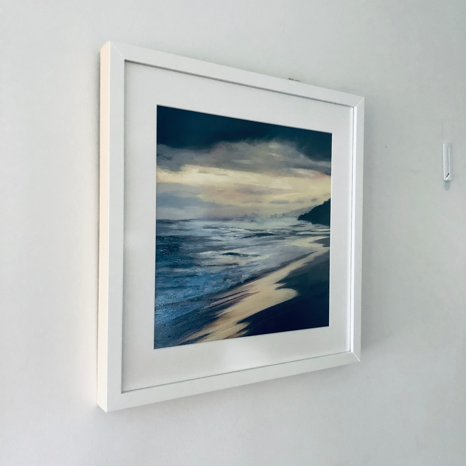'Reflect' framed with non reflective glass