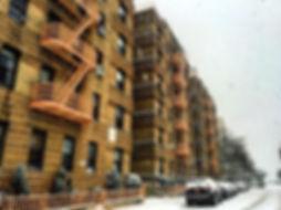 Snowy Brooklyn New York