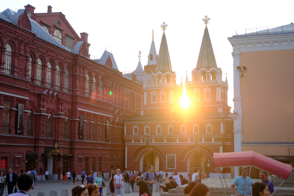 Sunset at Red Square