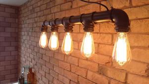 Brickslip wall & Industrial Edison style light