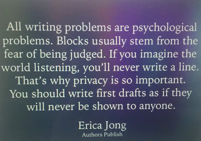 First Drafts ~ The Agony!