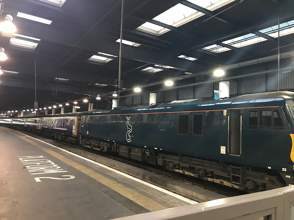 The Caledonian Sleeper ready to depart at Euston Station