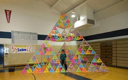 Giant tetrahedron