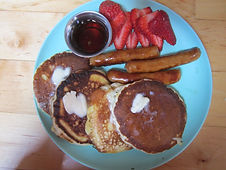 Food Pancakes and sausage.JPG